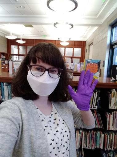 Our new children's librarian, Gina!