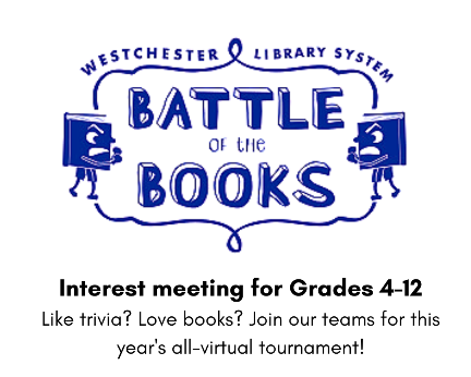 Battle of the Books Interest Meeting via ZOOM (Registration)