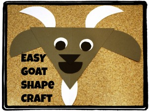 Take & Make Craft Kits for Kids: Go(a)t to Learn Shapes! - Limited Supply / Contact the Library to schedule a pick up