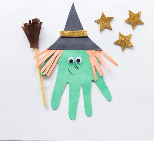 Take & Make Craft Kits for Kids: Handprint Witches - Limited Supply / Contact the Library to schedule a pick up