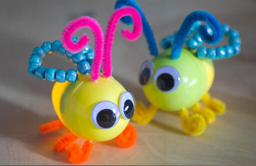 Take & Make Craft Kits for Kids: Plastic Egg Lightning Bugs - Limited Supply / Contact the Library to schedule a pick up