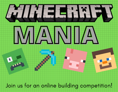 Minecraft Mania via ZOOM (Registration)
