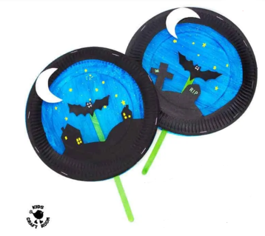 Take & Make Craft Kits for Kids: Paper Plate Bats - Limited Supply / Contact the Library to schedule a pick up