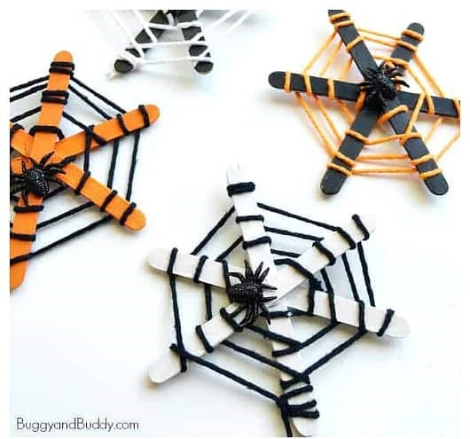 Take & Make Craft Kits for Kids: Popsicle Stick Spider Webs - Limited Supply / Contact the Library to schedule a pick up