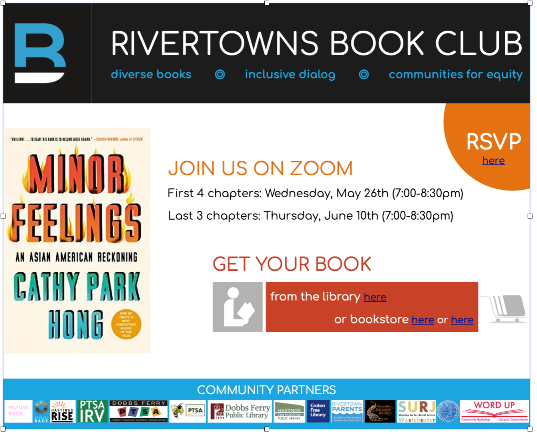 Rivertowns Book Group Discussion for Asian American and Pacific Islanders (AAPI) Month via ZOOM