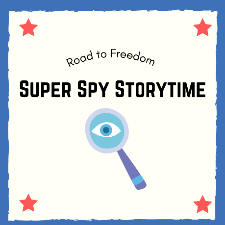 Super Spy Storytime (Dobbs Ferry Road to Freedom) - on the Library terrace