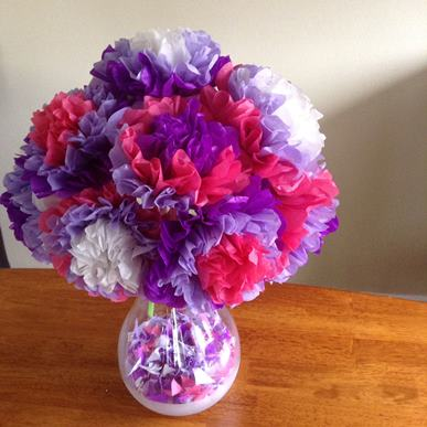 Take & Make Tissue Paper Flower Bouquet Craft Kit for Kids - Limited Supply / Contact the Library to schedule a pick up