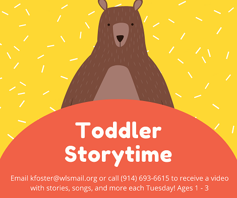 Toddler StoryTime - Register to receive a new recording weekly