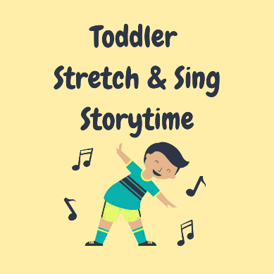 Outdoor Toddler Stretch & Sing Storytime on the library terrace